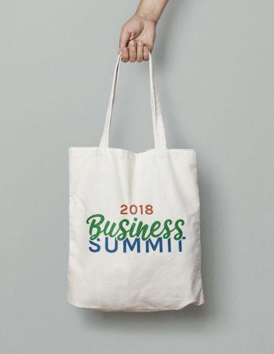 2018 Business Summit Tote Bag Mockup