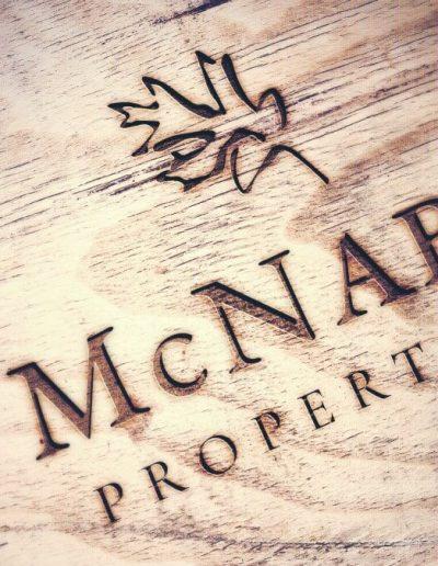 McNabb Properties Engraved Wood Mockup